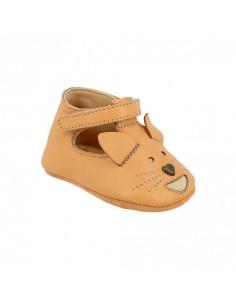 Sandales cuir Loulou Renard - Pêche - Taille 18