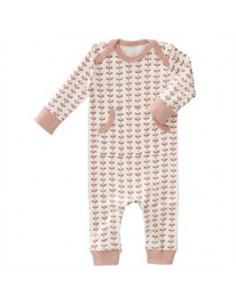 Pyjama coton bio sans pied - Leaves Mellow Rose