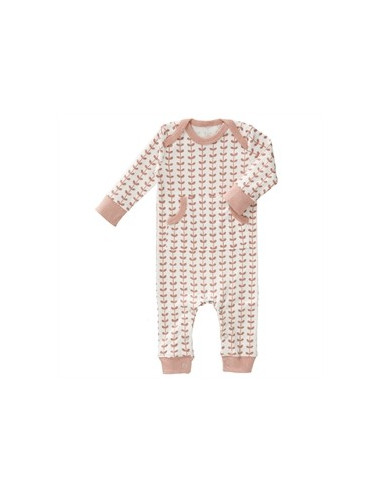 Pyjama sans pieds Fresk coton Bio - Leaves Mellow Rose