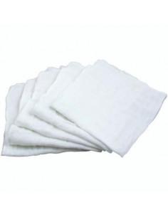 Débarbouillette Visage en mousseline bio - Blanc