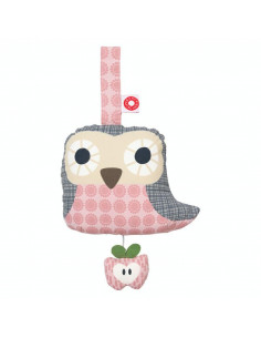 Peluche musicale bio - Pink Owl