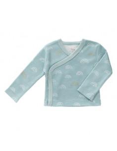 Cardigan coton bio Nné - Rainbow ether blue