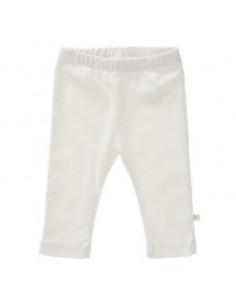 Pantalon uni coton Bio Offwhite taille: 0-3 m