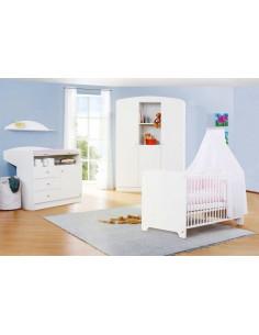 Chambre bébé 3pces avec garde-robe 3 portes - Jil