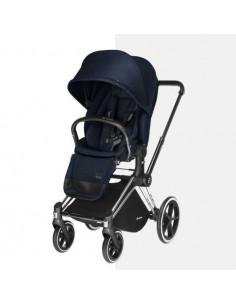 Poussette Priam de luxe Tout Terrain Chassis noir - Navy Blue