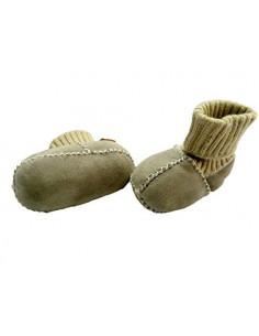 Chaussons bébé en peau de mouton T18 - Gris