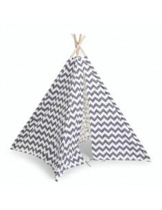 Tente tipi Zigzag - Gris Blanc