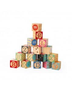 Kubix - Cubes en Bois - Lettres et Nombres