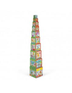 Jeu de Cubes - Pyramide carrée - City Friends