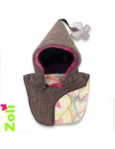 Capuchon bébé imperméable - Rainsnow Fluo Dots