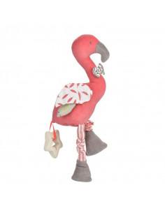 Jouet d'activité en coton bio - Flamingo