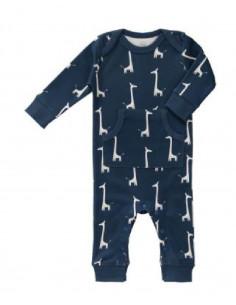 Pyjama sans pied - Coton Bio - Girafe - Indigo Blue - 3/6 mois