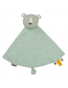 Doudou rond coton bio - Mr Polar Bear