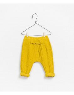 Pantalon - Coton Bio - Ocre - 3M