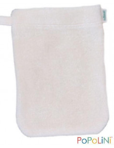 Gant de toilette coton Bio éponge 11*16cm - Ecru