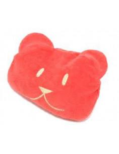 Bouillotte en noyaux de cerise - Teddy rouge
