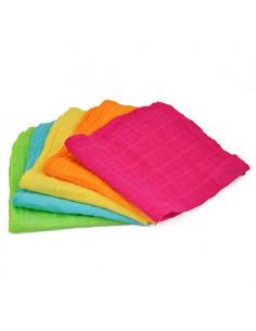 Débarbouillette Visage en mousseline bio - Multicolore Pink