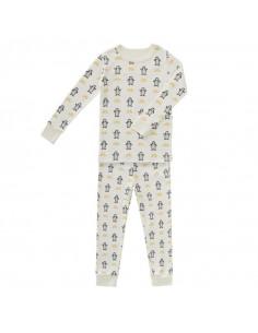Pyjama coton bio sans pied 6-12m - Pinguin