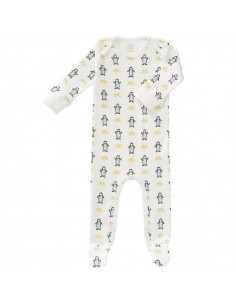 Pyjama coton bio avec pied 6-12m - Pinguin