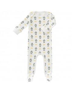 Pyjama avec pieds coton bio 0-3mois - Pingouin
