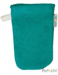 Gant de toilette coton Bio éponge 11*16cm - Emeraude