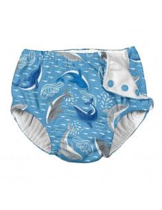Maillot de bain avec absorbant 6 mois - Light Blue Dauphins