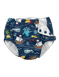 Maillot de bain avec absorbant 6 mois - Navy Pirates