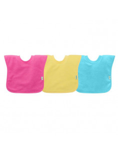 Bavoir imperméable à enfiler 3pc - Pink Yellow Aqua