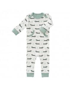Pyjama coton bio sans pied 3-6m - Dachsy