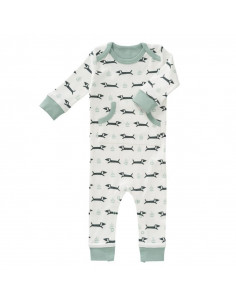 Pyjama ss-pieds Coton bio 0-3mois - Dachsy