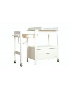 Meuble de Bain + tiroir Emma - Blanc Softclose