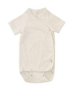 Body croisé coton bio manche courte 62-68 - Ecru