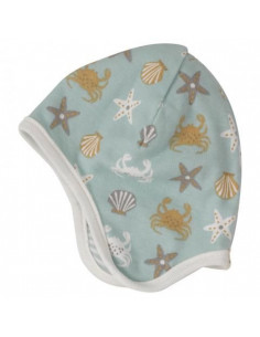 Bonnet réversible Coton Bio 0-5m - Crabe