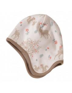 Bonnet réversible Coton Bio 0-5m - Deer
