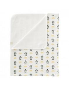 Couverture coton bio 80x100 - Pinguin