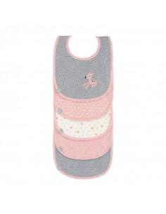 Bavoirs 5pcs coton 3-24m - Lela Light Pink 3