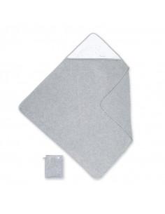 Cape de bain 90*90 cm terry+jersey - Stary Mixed Grey