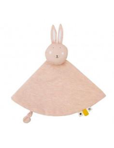 Doudou rond coton bio - Mrs Rabbit