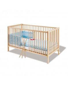 Lit bébé bois massif 60X120cm - Hanna
