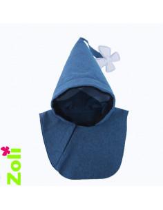 Capuchon bébé imperméable - Chiné Bleu Jeans