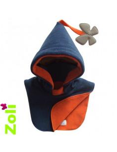 Bonnet bebe Bleu Canard - Orange