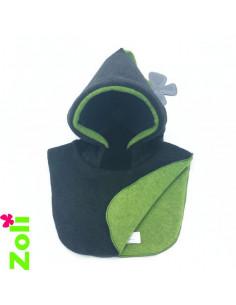 Bonnet bebe Anthracite - Vert