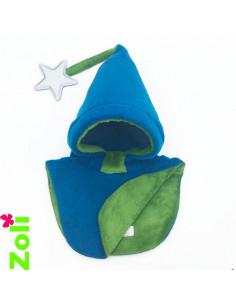 Bonnet enfant Bleu - Doudou vert