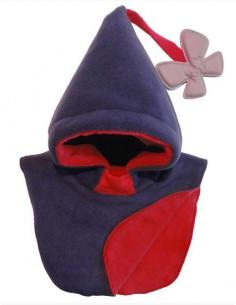 Bonnet enfant Bleu nuit - Rouge foncé