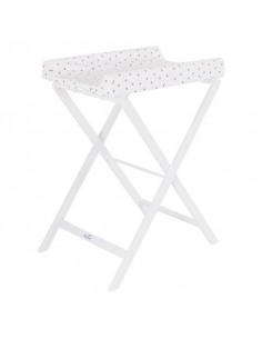 Table à langer pliable Trixi - Blanc / Pois