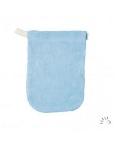 Gant de toilette coton Bio éponge 11*16cm - Ciel