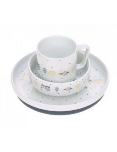 Coffret repas porcelaine - Garden explorer vert