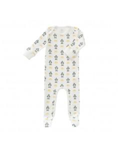 Pyjama avec pieds coton bio Newborn - Pingouin