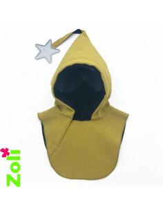 Capuchon enfant imperméable - Moutarde Noir