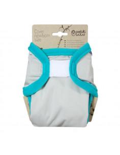 Culotte de protection Velcros Newborn Petit Lulu - Grey Turquoise
